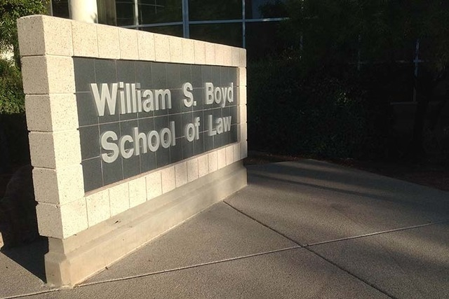 The William S. Boyd School of Law at UNLV (Greg Haas/Las Vegas Review-Journal)