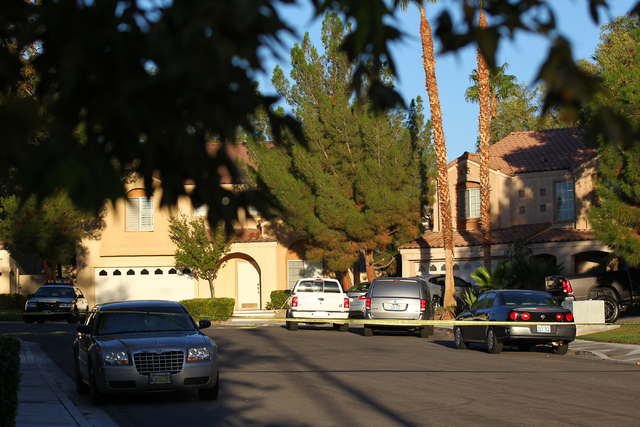 Unmarked crime scene investigator vehicles are seen at the end of the 1600 block of Broadmere Street on Monday, Sept. 22, 2014, where a fatal shooting occurred about 10 p.m. Sunday, Sept.21, near  ...