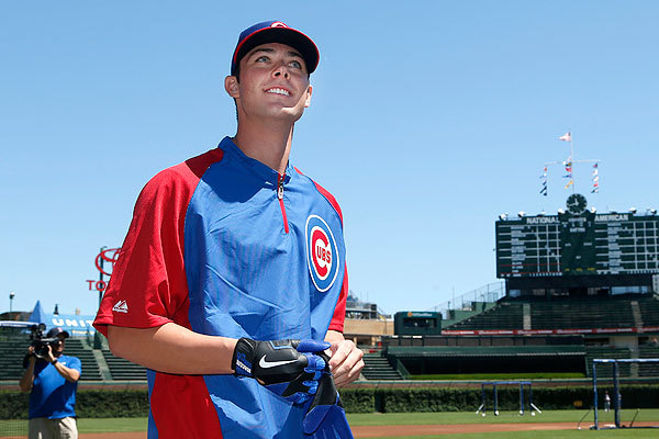 Kris Bryant hit 43 homers to top the minor leagues this season. (AP Photo/Charles Rex Arbogast)