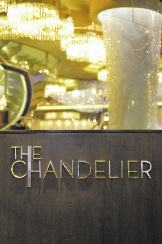 The exterior of The Chandelier in the Cosmopolitan hotel-casino at 3708 Las Vegas Blvd., South, in Las Vegas is shown on Tuesday, Jan. 22, 2013. (Bill Hughes/Las Vegas Review-Journal)