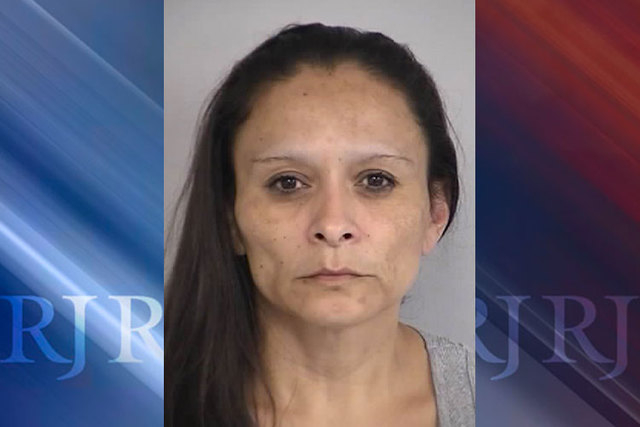 Christine Sanchez, 44, was booked Thursday on murder and robbery charges in the death of Bonnie Rice Saturday in North Las Vegas. (Courtesy/North Las Vegas Police Department)