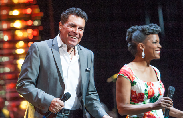 """Clint Holmes and Nnenna Freelon perform """"What'd I Say"""" in """"Georgia On My Mind."""" (Courtesy)"""