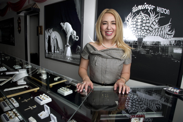 Polly Weinstein, The Jeweler's Daughter, stands behind one of many jewelry display counters at the Tower of Jewels jewelry store located at 838 East Sahara Ave., in Las Vegas on Thursday, Sept. 11 ...