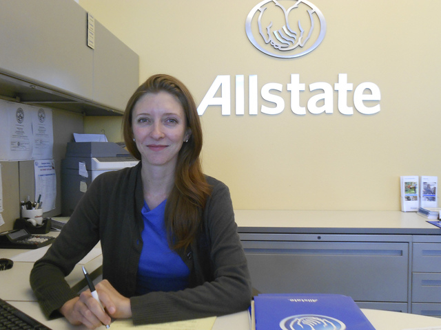 Courtesy photo Eastgate Insurance Agency Manager Kristin Vargas is shown at the Allstate Insurance agency at Findlay Toyota in the Valley Automall.