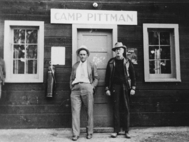 Las Vegas pioneer J. T. McWilliams, right, poses with an unnamed person in this undated photo. McWilliams owned land in Lee Canyon as well as land near the future site of Las Vegas. (File-unknown  ...