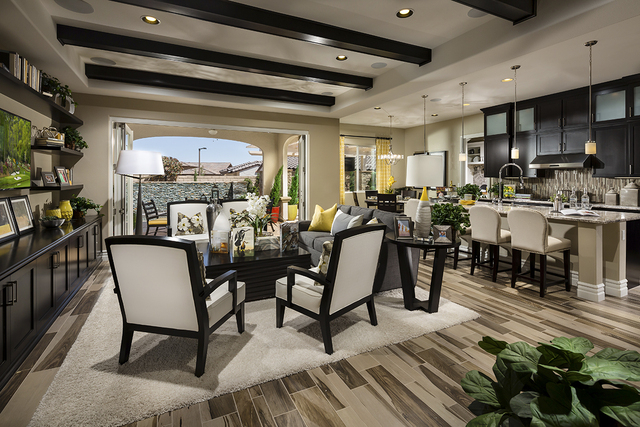 Courtesy photo The Trapani model at Santaluz in Summerlin showcases options available during Toll Brothers National Sales Event.