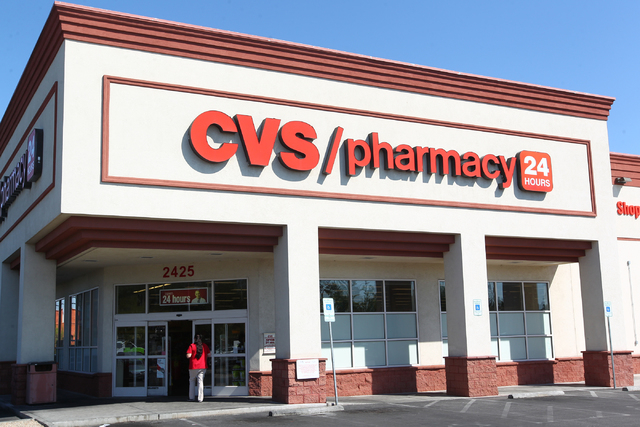 A CVS where a robbery occurred at gunpoint is seen at 2425 E. Desert Inn Road in Las Vegas on Wednesday, Sept. 10, 2014. Las Vegas police are looking for the thief. The robber was reported to have ...