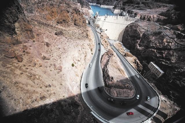 Hoover Dam as seen from the    OՃallaghan-Tillman Memorial Bridge on Thursday, March 20, 2014.  The world's highest concrete arch bridge was open in 2010.(Jeff Scheid/Las Vegas Review-Journal)