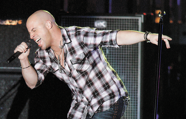 Chris Daughtry of the band Daughtry performs during the Andre Agassi Foundation for Education's Grand Slam for Children benefit concert at Wynn Las Vegas, Sept. 26, 2009. Daughtry is set to be amo ...