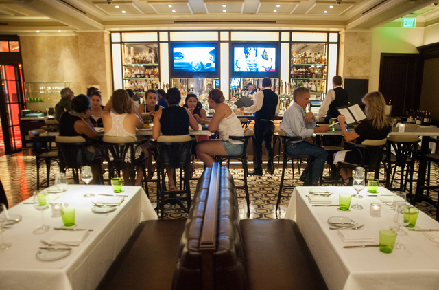 Dinner service is seen at db Brasserie restaurant inside The Venetian in Las Vegas on Saturday Sept. 6, 2014. (Martin S. Fuentes/Las Vegas Review-Journal)