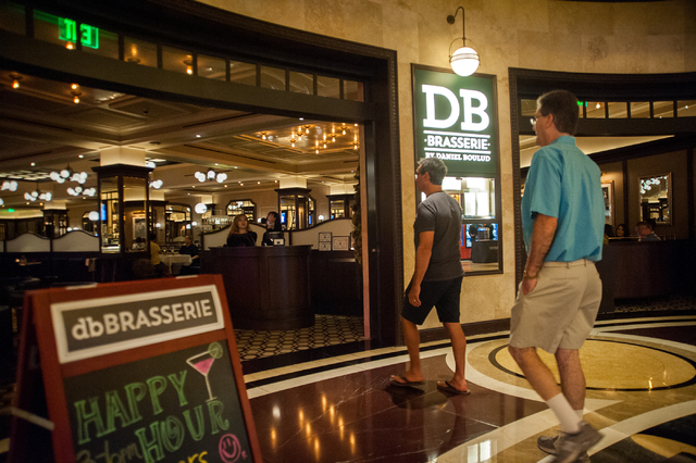 Patrons walk into db Brasserie restaurant inside The Venetian in Las Vegas on Saturday Sept. 6, 2014. (Martin S. Fuentes/Las Vegas Review-Journal)