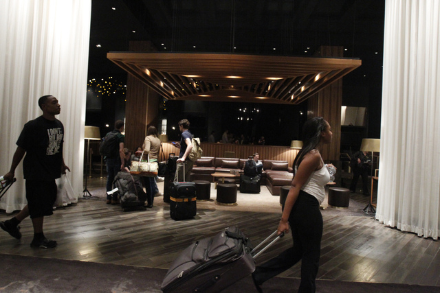 The lobby at Delano Las Vegas hotel in Las Vegas is seen during a tour Friday, Aug. 29, 2014. The hotel scheduled their official reopening Tuesday, Sept. 2, after an $80 million renovation of thei ...