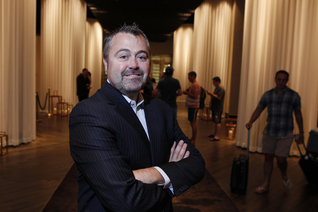 Matthew Chilton, general manager at Delano Las Vegas hotel, poses for a portrait at the hotel lobby at Delano Las Vegas Friday, Aug. 29, 2014. The hotel scheduled their official reopening Tuesday, ...