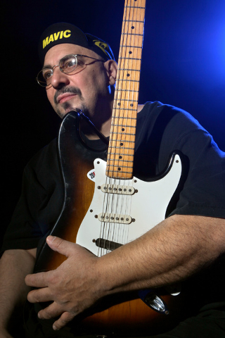 JEFF SCHEID/LAS VEGAS REVIEW-JOURNAL The Smithereens frontman Pat DiNizio poises for a photo after rehearsing in the Crazy Girls theatre at the Riviera hotel & casino on Wednesday, Nov. 2, 2011.   ...