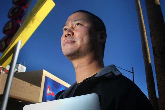 Tony Hsieh, CEO of online clothing retailer Zappos.com, was in Santa Fe, N.M., this week to share his vision for urban redevelopment with locals there. (Jeff Scheid/Las Vegas Review-Journal file)