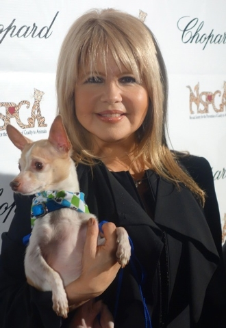 Entertainer Pia Zadora at an SPCA fundraiser in 2013. (Norm Clarke photo)