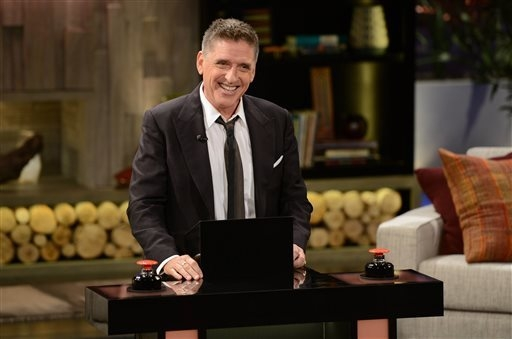 """This undated photo provided by FremantleMedia North America & Debmar-Mercury shows host Craig Ferguson on """"Celebrity Name Game."""" The game show, produced by Courtney Cox and David Arquett ..."""