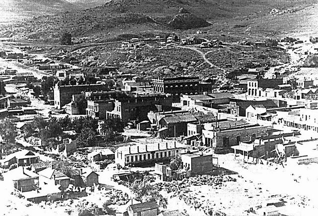 A vintage photograph of Eureka, Nevada. (Undated historic photograph)