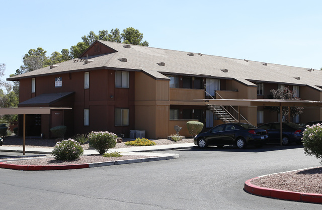 A fetus stuffed inside a glass jar and placed in a freezer was found at this apartment complex at 6666 W. Washington Ave., near Rainbow Boulevard, on Wednesday, Sept. 17, 2014, by Las Vegas police ...