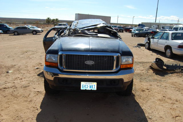 This photograph shows the crushed roof of the Trejos' Ford Excursion after a rollover accident that occurred in December 2009 in New Mexico. Rafael Trejo, 39, died in the crash. This week, a Las V ...