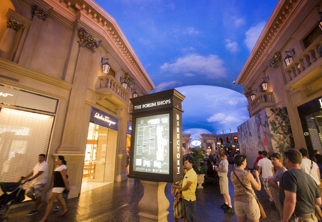 Looking for celebrities? You might catch them spending aome money at the Forum Shops. (Jeff Scheid/Las Vegas Review-Journal)