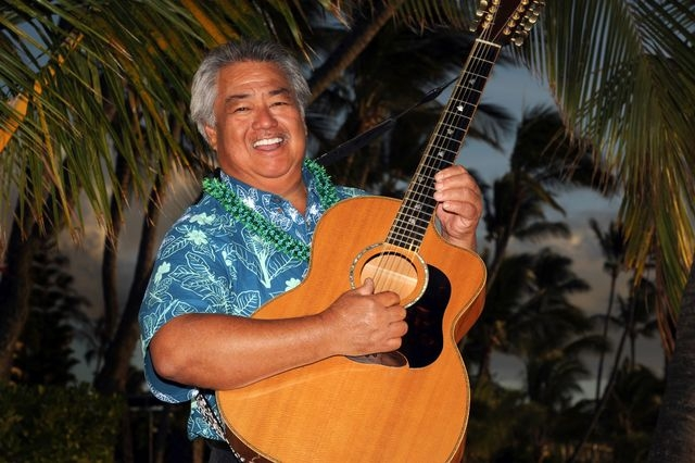 "Slack key guitarist George Kahumoku Jr. leads the ""Masters of Hawaiian Music"" this weekend at The Smith Center's Cabaret Jazz. Photo credit: Matt Thayer. (Courtesy)"