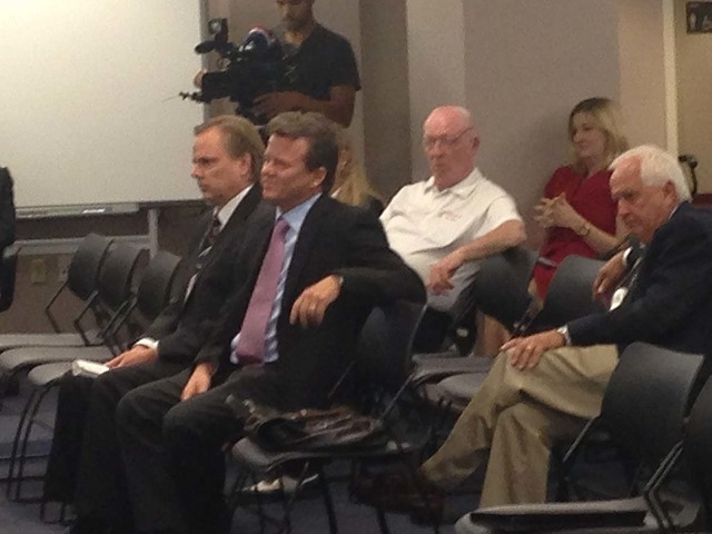 Herbst Gaming owner Timothy Herbst, seen at the Nevada Gaming Commission meeting in Las Vegas, Nev., on Thursday, Sept. 25, 2014, awaits a licensing hearing for the Mountain View Casino in Pahrump ...