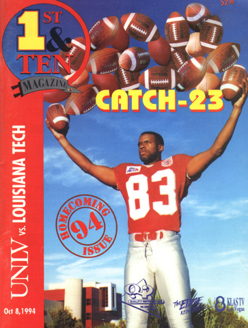 After UNLV's Randy Gatewood had 23 catches in one game, he was a media darling in 1994. (Courtesy photo)