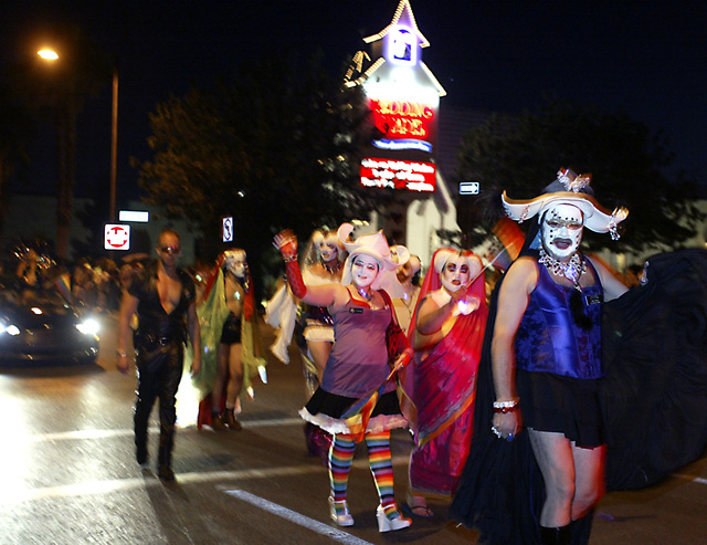Revelers march in the ninth annual Gay Pride Night parade along fourth street Friday, May 11, 2007, in downtown Las Vegas. (Ralph Fountain/Las Vegas Review-Journal file photo)