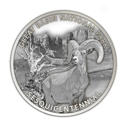 The final NV 150 medallion, Great Basin National Park