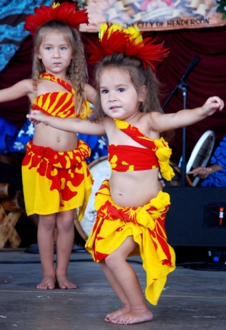 Tiny dancers get in on the fun at the annual Prince Prince Jonah Kuhio Ho'olaule'a Pacific Islands Festival, which returns to the Henderson Events Plaza this weekend. (Courtesy photo)