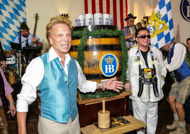 Siegfried & Roy kicked off the 11th annual Oktoberfest at Hofbrauhaus Las Vegas, 4510 Paradise Road, as honorary keg tappers Sept. 13. The celebration continues through Oct. 31 with celebrity gues ...
