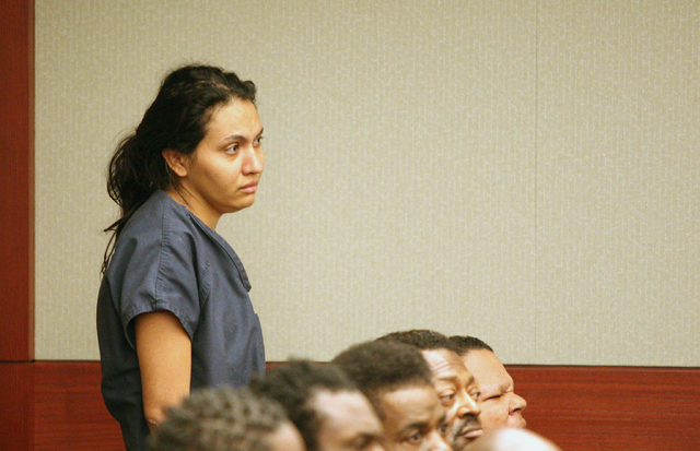 Luz Robledo Ibarra, the Las Vegas mother accused of throwing two of her children out of a second-story window, was found competent to stand trial Friday, September 26, 2014. (Michael Quine/Review- ...