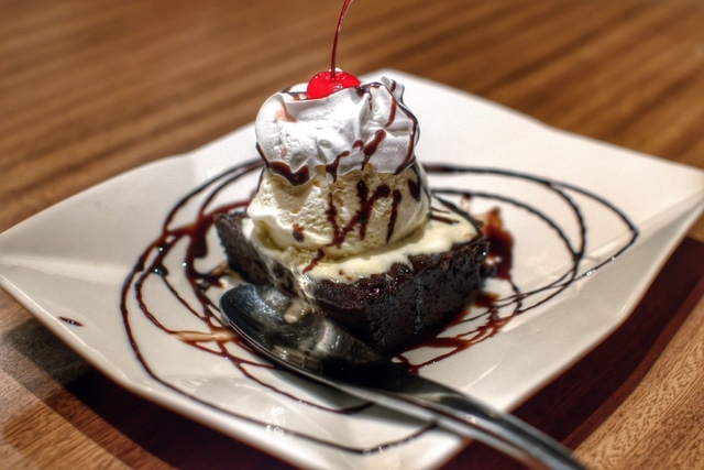 The brownie sundae is shown at Cafe V. (Fernando Lopez/Special to View)