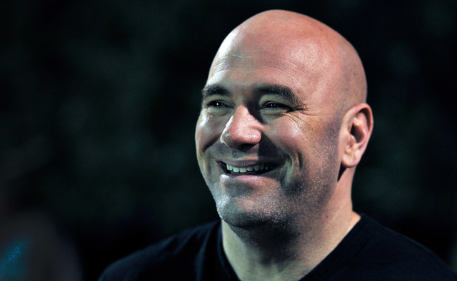 UFC president Dana White watches his son play football at All-American Park in Las Vegas on Tuesday, Sept. 23, 2014. (David Becker/Las Vegas Review-Journal)