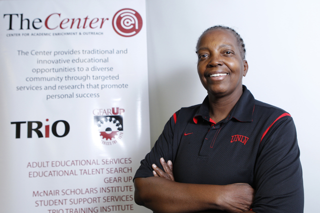 Musiette McKinney, assistant director and educational talent search at UNLV's TheCenter, poses for a portrait at TheCenter office, Tuesday, Sept. 9, 2014. TheCenter offers educational services for ...