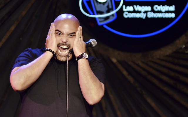 Matt Kazam performs at the Riviera Comedy Club in the Riviera hotel-casino at 2901 Las Vegas Blvd., South, in Las Vegas on Thursday, Sept. 11, 2014. (Bill Hughes/Las Vegas Review-Journal)