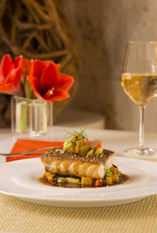 An opaka dish at Lakeside Restaurant at Wynn. (Courtesy)