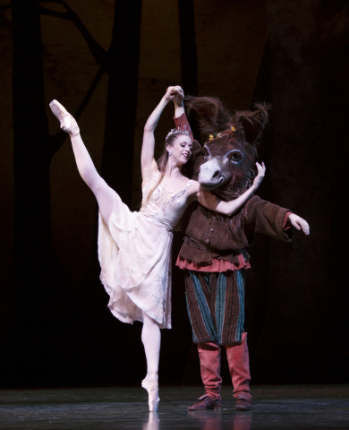 """Guest artist Lesley Rausch of Pacific Northwest Ballet, left, will dance the role of Titania in the first act of Balanchine's """"A Midsummer Night's Dream"""" at this weekend's Nevada Ballet Theatre se ..."""