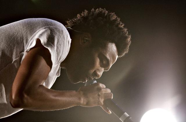 Childish Gambino performs during the Life is Beautiful festival in Las Vegas Saturday, Oct. 26, 2013. (John Locher/Las Vegas Review-Journal)