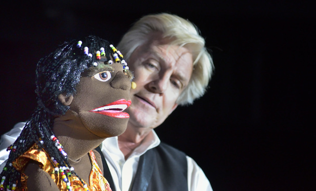 Ventriloquist Patrick Murray performs with Matilda at the D Las Vegas hotel-casino at 301 Fremont St. in Las Vegas on Monday, Sept. 8, 2014. (Bill Hughes/Las Vegas Review-Journal)