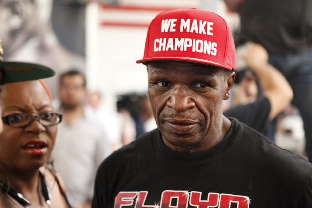 Trainer Floyd Mayweather Sr. stand inside the Mayweather Boxing Club in Las Vegas during a media day Tuesday, Sept. 2, 2014. (Erik Verduzco/Las Vegas Review-Journal)
