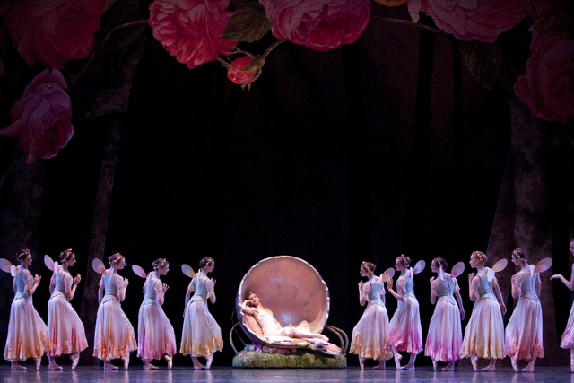 """A scene from Balanchine's ballet """"A Midsummer Night's Dream,"""" as performed by Pacific Northwest Ballet; Nevada Ballet Theatre presents the first act as part of this weekend's season opener at The  ..."""