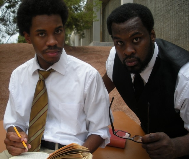 "Nevada Conservatory Theatre's production of Athol Fugard's ""My Children! My Africa!"" (opening Sept. 19 at UNLV's Black Box Theatre) features Maurice Palmer and Stephon Pettway. (Courtesy photo)"