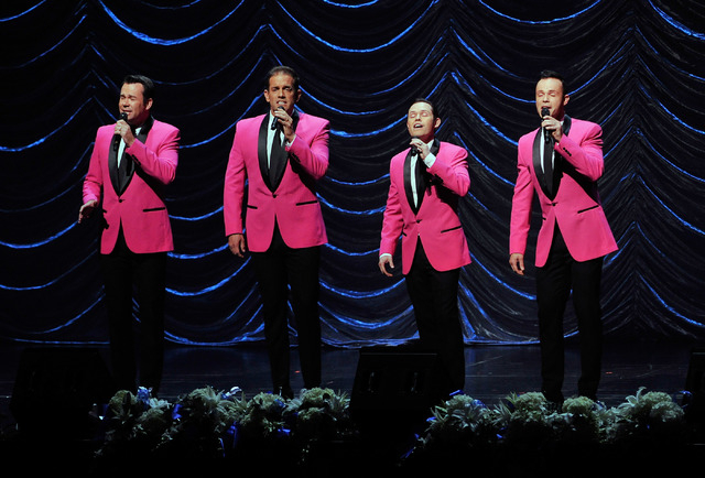 Human Nature performs during the Nevada Sesquicentennial All-Star Concert at The Smith Center on Monday, Sept. 22, 2014, in Las Vegas. The variety show, featuring many Las Vegas entertainers, cele ...
