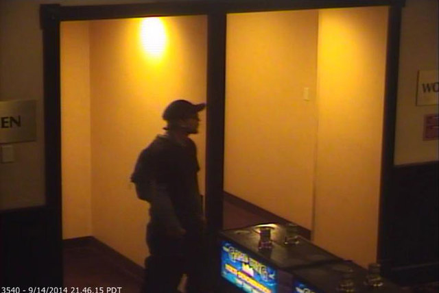 Las Vegas police are looking for a man who robbed an employee inside Palace Station on Sunday night. (Courtesy/Las Vegas Metropolitan Police Department)