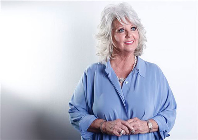 Celebrity chef Paula Deen poses for a portrait in New York on Jan. 17, 2012. The Paula Deen Network, which is heavy on new videos starring Deen, goes live Wednesday, Sept. 24, 2014. (AP Photo/Carl ...