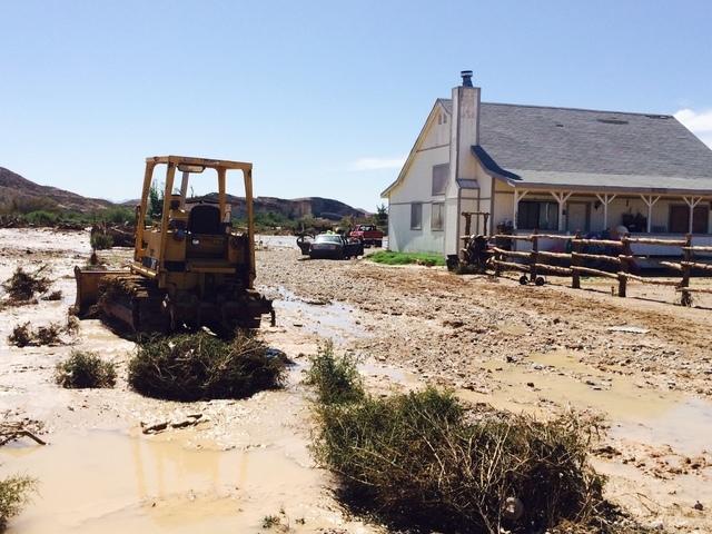 Moapa Warm Spring Ranchos sub division flood (Bizu Tesfaye/Las Vegas Review-Journal)