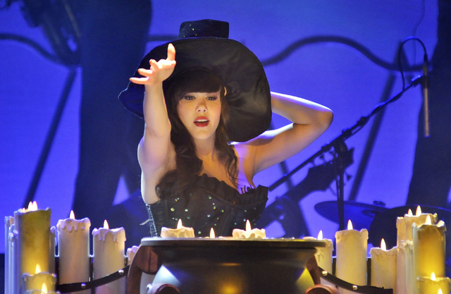 "Claire Sinclair performs during ""Pin Up"" at the Stratosphere at 2000 Las Vegas Blvd. South, on Thursday, Aug. 21, 2014. (Bill Hughes/Las Vegas Review-Journal)"