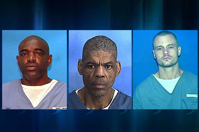 (From L to R) Inmates Matthew Walker, Darren Rainey and Randall Jordan-Aparo. All died in Florida prisons. (Courtesy, Florida Department of Corrections)
